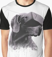 Virtual Reality Dog Graphic T-Shirt