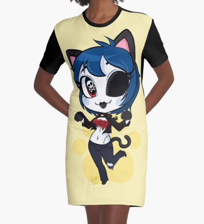 Meow Wow Graphic T-Shirt Dress