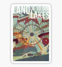 Minnesota - Land of Lakes Sticker