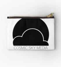 Cosmic Sky Media Logo (Black) Zipper Pouch