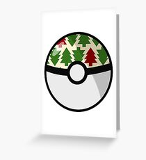 Christmas Pokeball Greeting Card