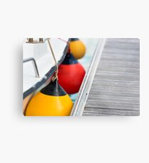 Sailboat Side Fenders Metal Print