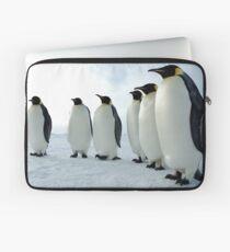 Lined up Emperor Penguins Laptop Sleeve
