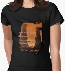 Singing Towers, There is a Song, Doctor Who Womens Fitted T-Shirt