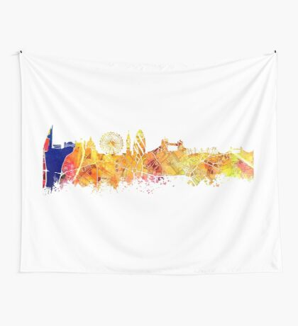 London skyline map city Tower Wall Tapestry