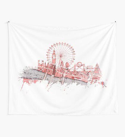 London skyline maps Wall Tapestry