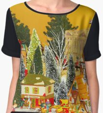 Dickens Christmas Chiffon Top