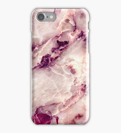 Pink Marble 01 iPhone Case/Skin