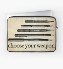 Choose Your Weapon Laptop Sleeve