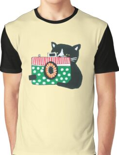Photographer Cat Graphic T-Shirt
