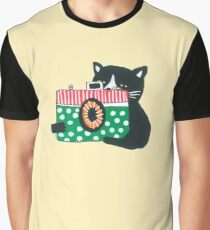 Photographer Cat Graphic T-Shirt