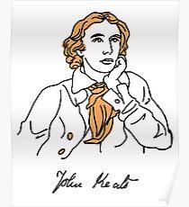 John Keats stencil Poster
