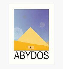 Stargate - Travel Poster (Abydos) Art Print