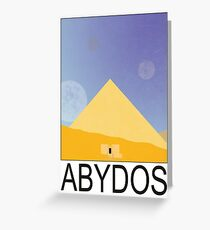 Stargate - Travel Poster (Abydos) Greeting Card