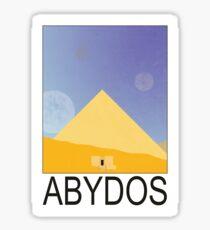 Stargate - Travel Poster (Abydos) Sticker