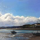Torridge River from Instow Summer 2016 - Oil on canvas by Simon Groves