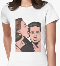 Mulder and Scully X Files Womens Fitted T-Shirt