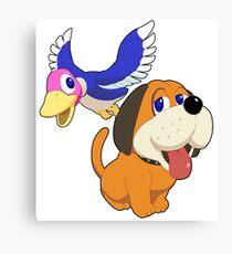 Super Smash Bros. Duck Hunt Canvas Print