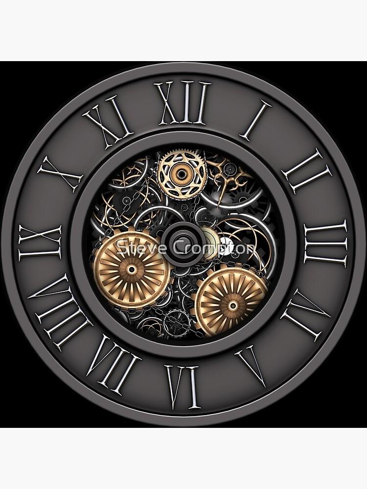 Vintage Steampunk Clock No.3 by SC001