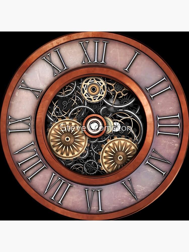 Vintage Steampunk Clock No.4 by SC001
