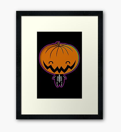 Cutie Pumpkin Pie Framed Print