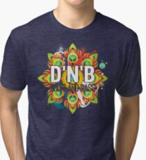 Drum And Bass - Trippy Music Design Tri-blend T-Shirt