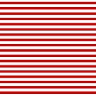Red and White Stripes by Jenn Inashvili