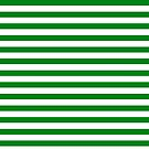 Green and White Stripes by Jenn Inashvili