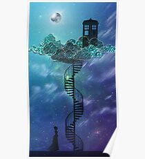 Blue Box in the Victorian Sky Poster
