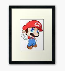 Super Smash Bros. Mario Framed Print