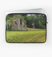 Windmill Flowers And A Barn Laptop Sleeve