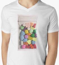 Zak snoep Men's V-Neck T-Shirt