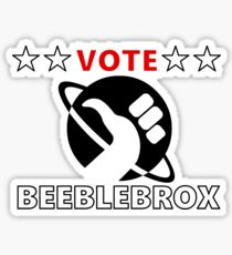 Vote Beeblebrox - Hitchhiker's guide to the galaxy Sticker