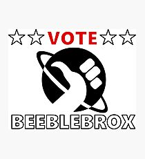 Vote Beeblebrox - Hitchhiker's guide to the galaxy Photographic Print