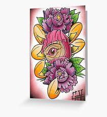 one eye daruma Greeting Card