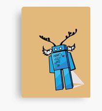 Robots Need Love Too Canvas Print
