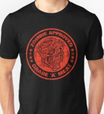 """ZOMBIE APPROVED GRADE """"A"""" MEAT - RED Unisex T-Shirt"""