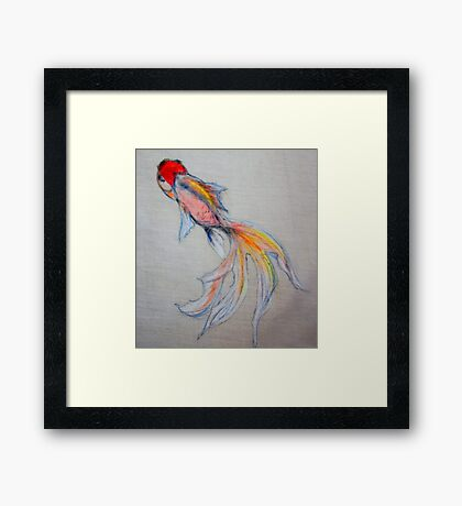 Goldfish Pond (close up #3) Framed Print