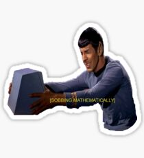 Spock - Sobbing Mathematically Sticker