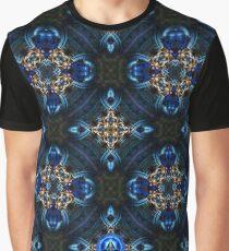 Kaleidoscope Golden Blue Graphic T-Shirt