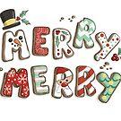 Merry Merry Christmas Cookies  by Krista Heij-Barber