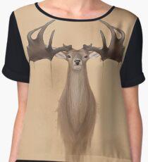 Megaloceros giganteus ( Irish elk / giant deer) Chiffon Top