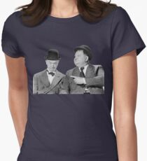 Laurel and Hardy Womens Fitted T-Shirt