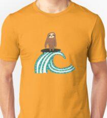 Surfing Sloth Unisex T-Shirt