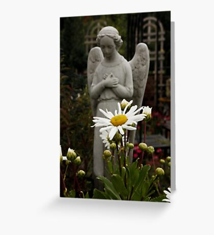 Angel in the Daisies Greeting Card