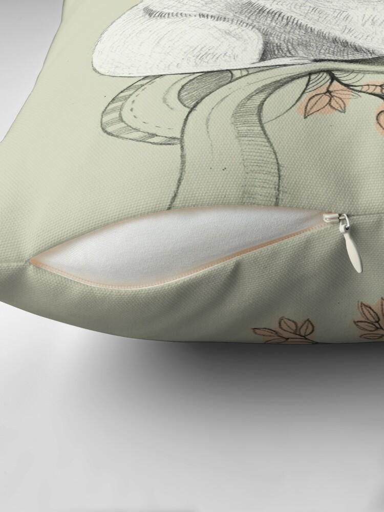 Alternate view of Wombat! Throw Pillow