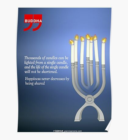 Sharing the Light (Buddha's Quote) Poster