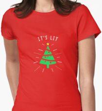 It's Lit Christmas Shirt Women's Fitted T-Shirt