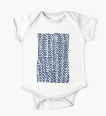 Hand Knit Navy Kids Clothes
