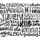 Hello - Languages by marjoriejackson